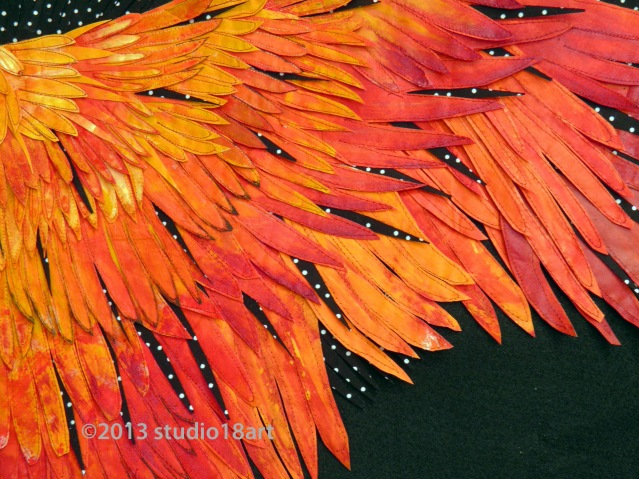 A Section of the Bird Wing in Progress