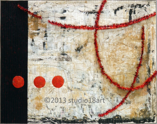 OH HAPPY DAYS...art quilt...32X42...Sold