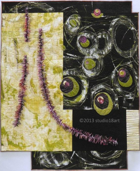 ETERNAL SPRING...art quilt...41 X 33