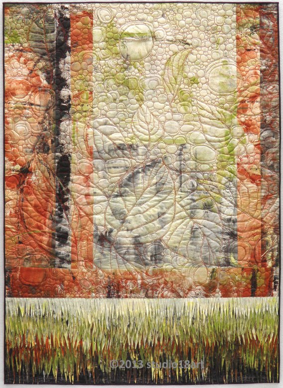 AUTUMN RHAPSODY...art quilt...42X31