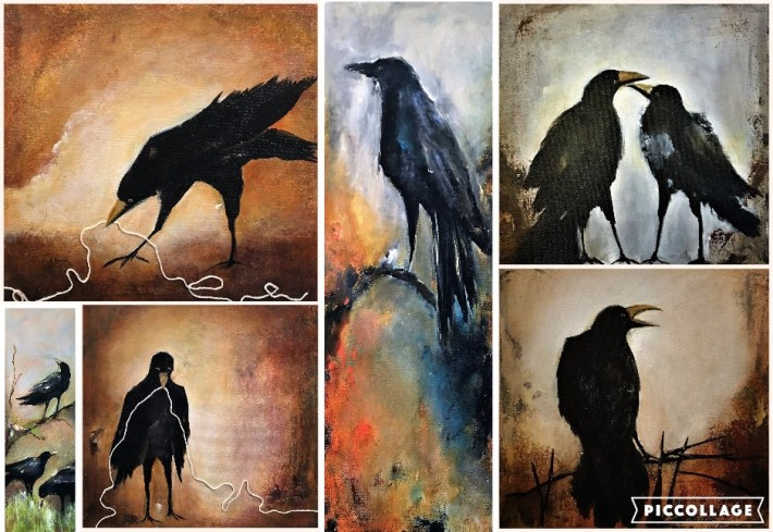 Raven Paintings Mostly Madrid