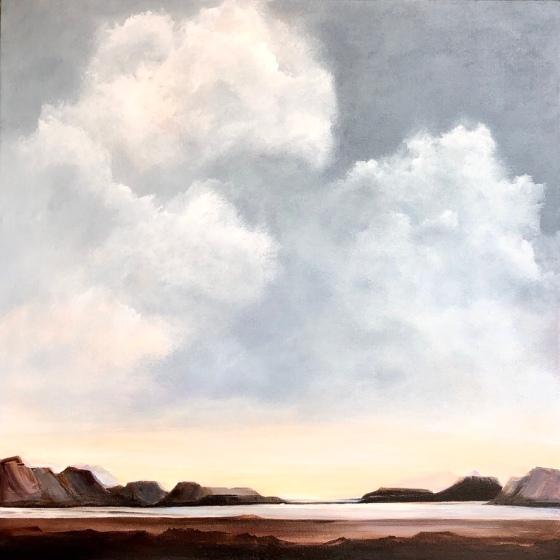 SUMMER BEAUTY, acrylic landscape painting 30x30